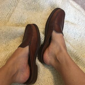 Shoes - Leather loafer mules